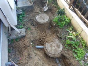 北九州市八幡西区で排水桝の工事