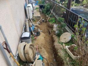 排水桝の工事