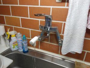 北九州市八幡西区でキッチンの蛇口水漏れ修理