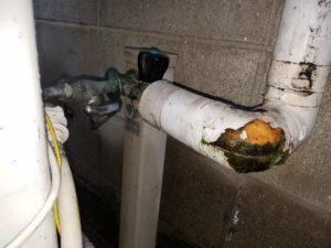 北九州市小倉北区で屋外の蛇口水漏れを修理。