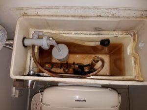 北九州市小倉北区でトイレの水漏れ修理。