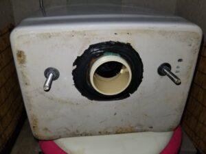 北九州市八幡西区でトイレの水漏れを修理。
